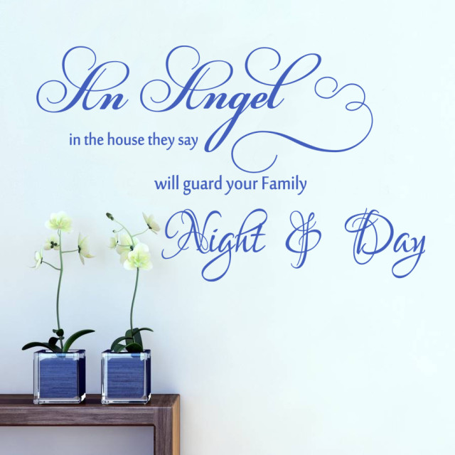 Angel Night & Day Wall Art Quote Vinyl Transfer Kids Bedroom Decal Sticker