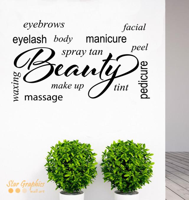 Beauty Salon Sign Vinyl Sticker Decal Decoration
