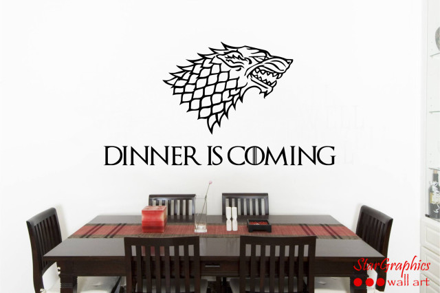DINNER IS COMING GAME OF THRONES FUNNY Wall Art Quote Vinyl Decal Sticker Mural
