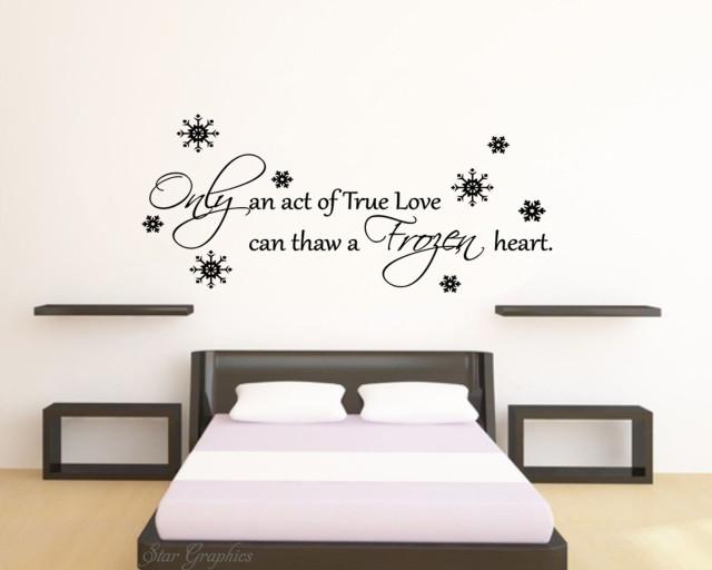 Frozen Disney Love Quote Wall Art Vinyl Transfer Kids Bedroom Decal Sticker