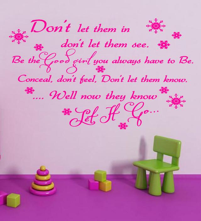 Frozen Disney Song Wall Art Quote Vinyl Transfer Kids Bedroom Decal Sticker