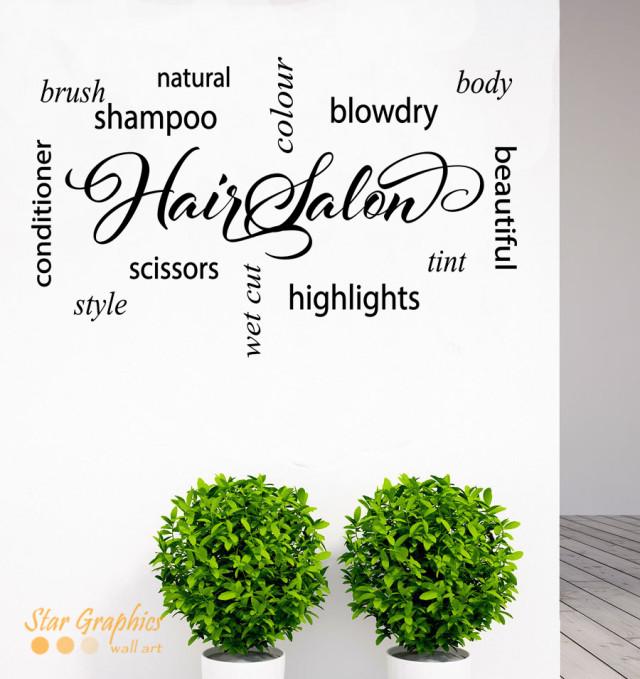 Hair & Beauty Salon Sign Vinyl Sticker Decal Decoration