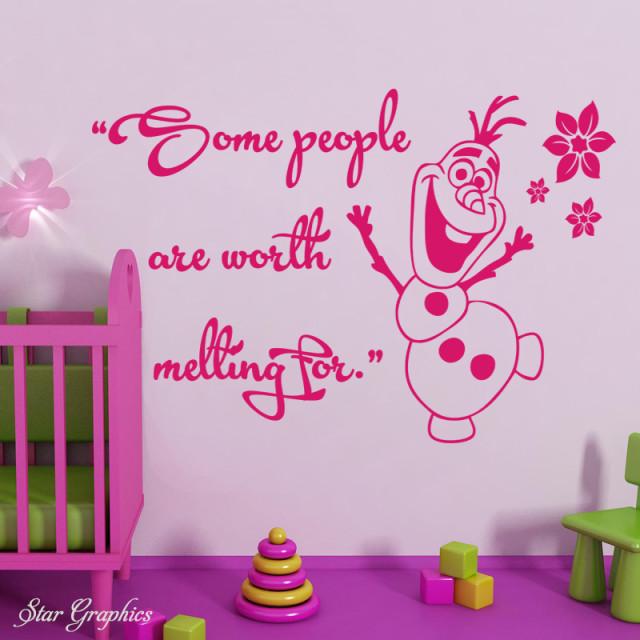 Olaf Some People Disney Frozen Kids Nursery Wall Art Vinyl Decal Quote Sticker