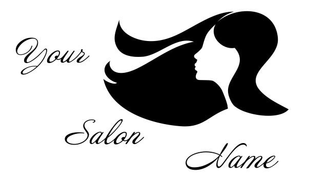 Personalised Hairdresser Hair Salon Name Window  Shop Sign Vinyl Sticker Decal