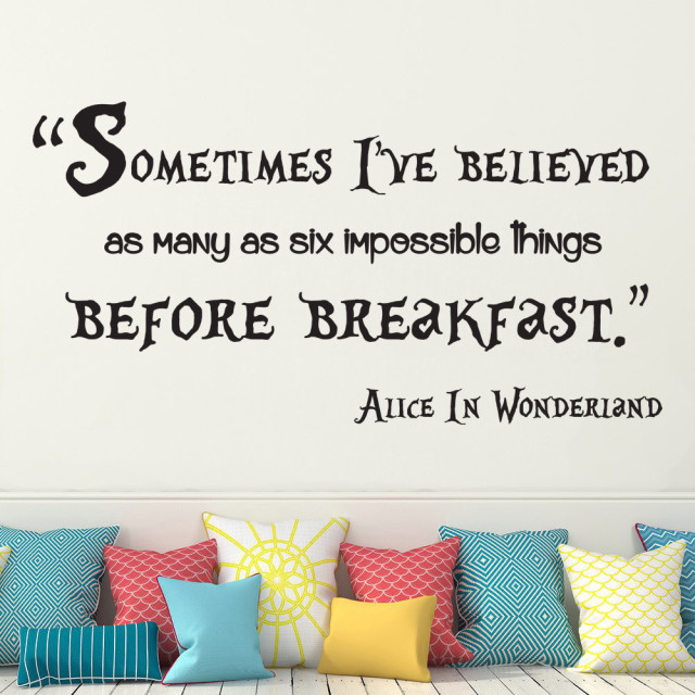 Alice In Wonderland Sometimes I Have Believed Wall Art Quote Vinyl Decal Sticker Mural Wedding Birthday Anniversary Gift DIY
