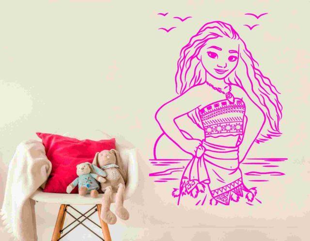 Moana Wall Art Vinyl Sticker Decal Mural Gift Birthday Nursery Playroom Decoration DIY Home Decor