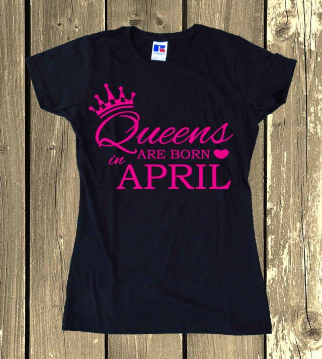 Personalised Queens Are Born In Shirt Personalise Your Month Of Birth Trendy Tee Mama Momlife Top Knot Ladies Funny Mommy Shirt Top Clothing